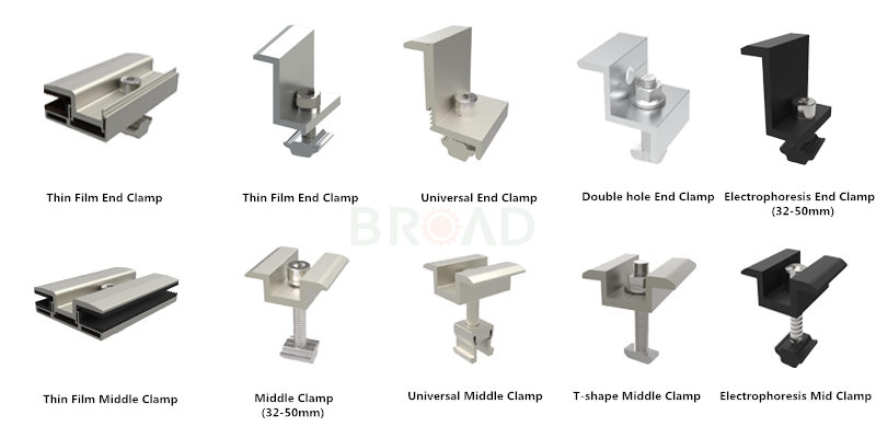 solar mounting system clamps