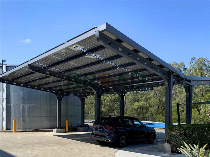 carport with solar panels